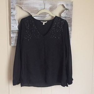Banana Republic | Black Sequin Blouse